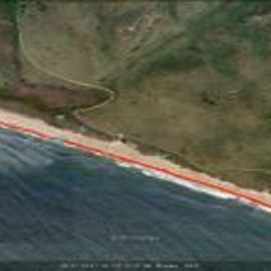 Limantour South Google Earth Transects for ship wreckage, Point Reyes National Seashore