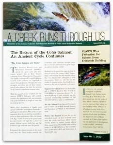 SPAWN 'A Creek Runs Through Us' Newsletter