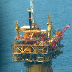 Devils Tower Oil Rig in Gulf of Mexico