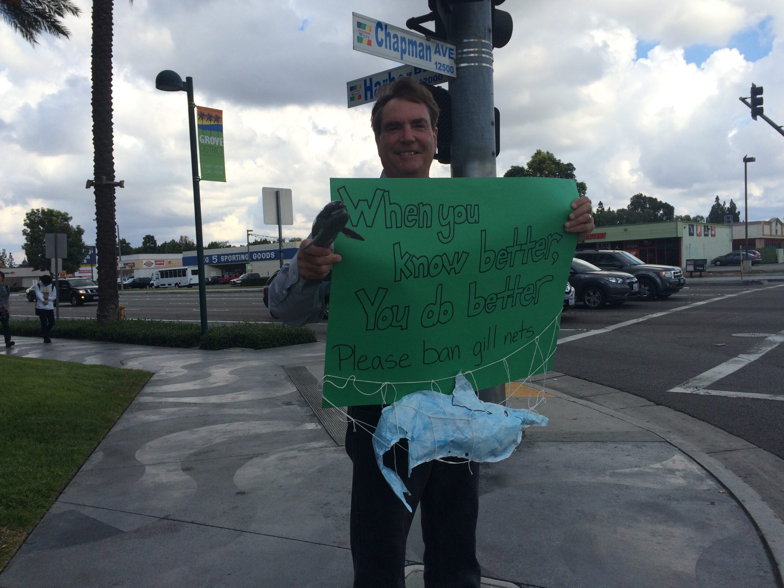 Protesters Call on Pacific Fisheries Management Council to  Close the California Driftnet Fishery