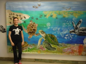 A sea turtle mural and other artwork now graces the Sea Turtle Action Center