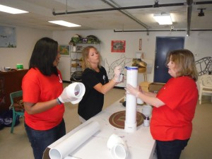Sorority Sisters Build Fishing Line Recycling Tubes at the TIRN Center