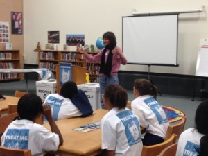 TIRN's Gulf Campaign Staff Member teaches about the impacts of plastic pollution