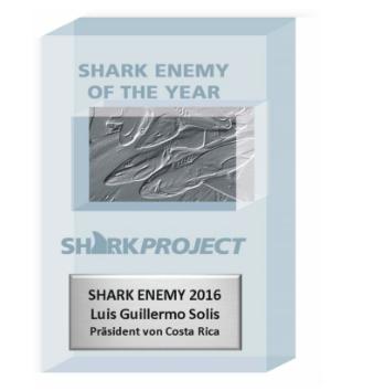 Costa Rica Wins 2016 SHARK ENEMY AWARD