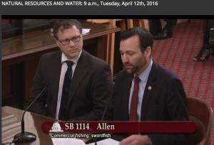 Doug Karpa and Ben Allen speaking on behalf of SB1114