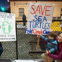 Dakota Access Pipeline protest December 2016 in San Rafael