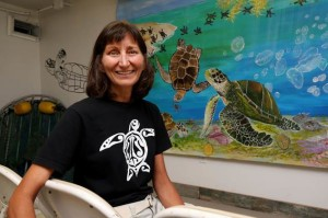 Joanie Steinhaus Campaign Director for Turtle Island Restoration Network' Gulf Office, hopes to build a sea turtle incubation facility in Galveston. Sea Turtle eggs found in Galveston County and the upper Texas Coast are taken to Padre Island National Seashore where they are released once they hatch.