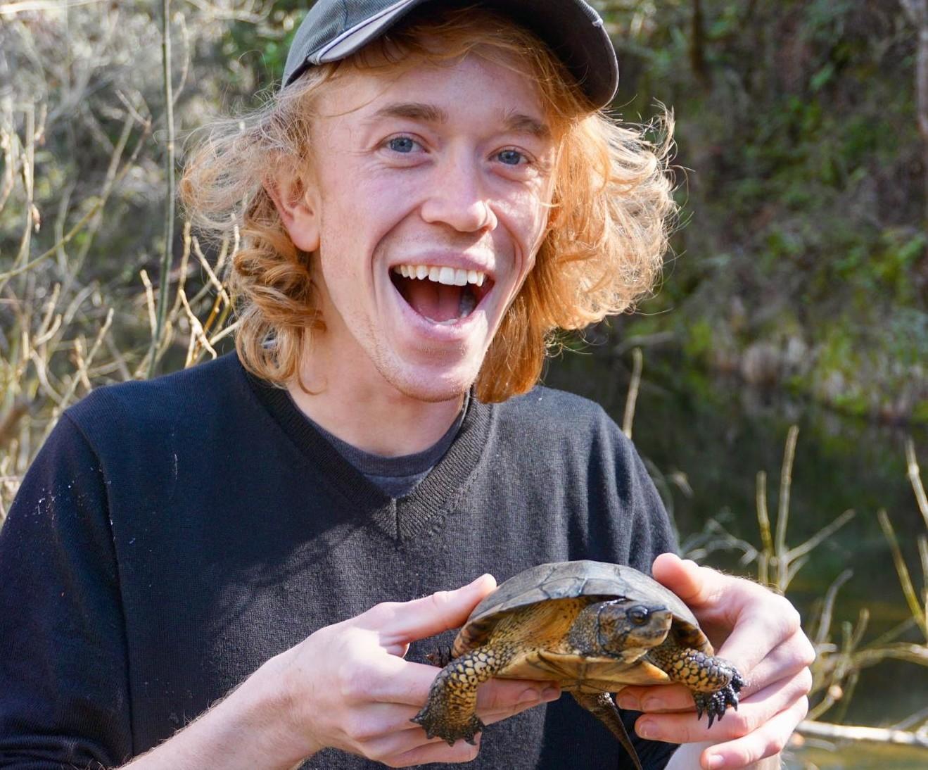 Western Pond Turtle in Lagunitas Creek, Caliornia