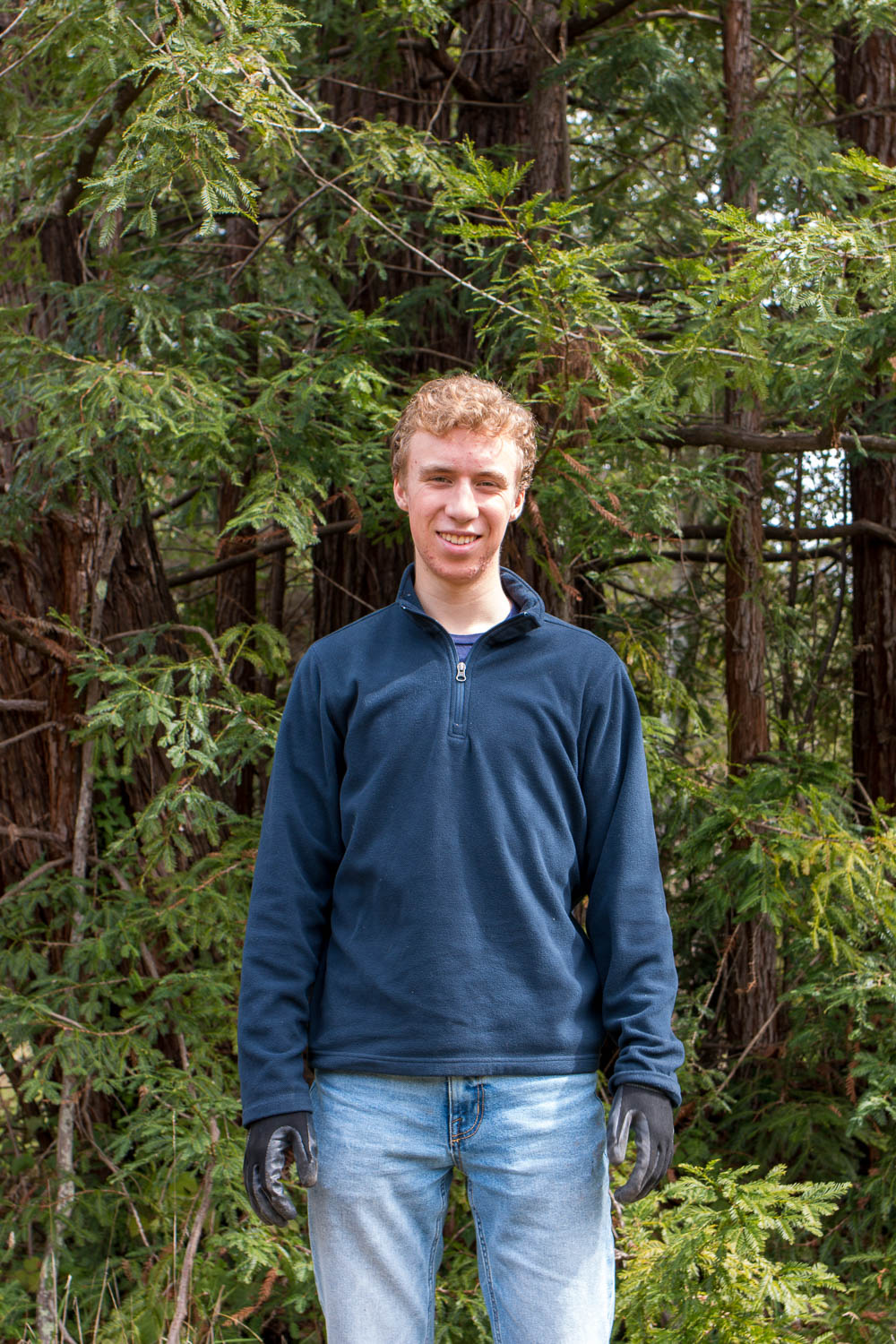 Nate Peterson, a regular volunteer at the SPAWN Native Plant Nursery.