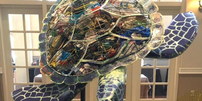 Sea Turtle Made of Marine Debris