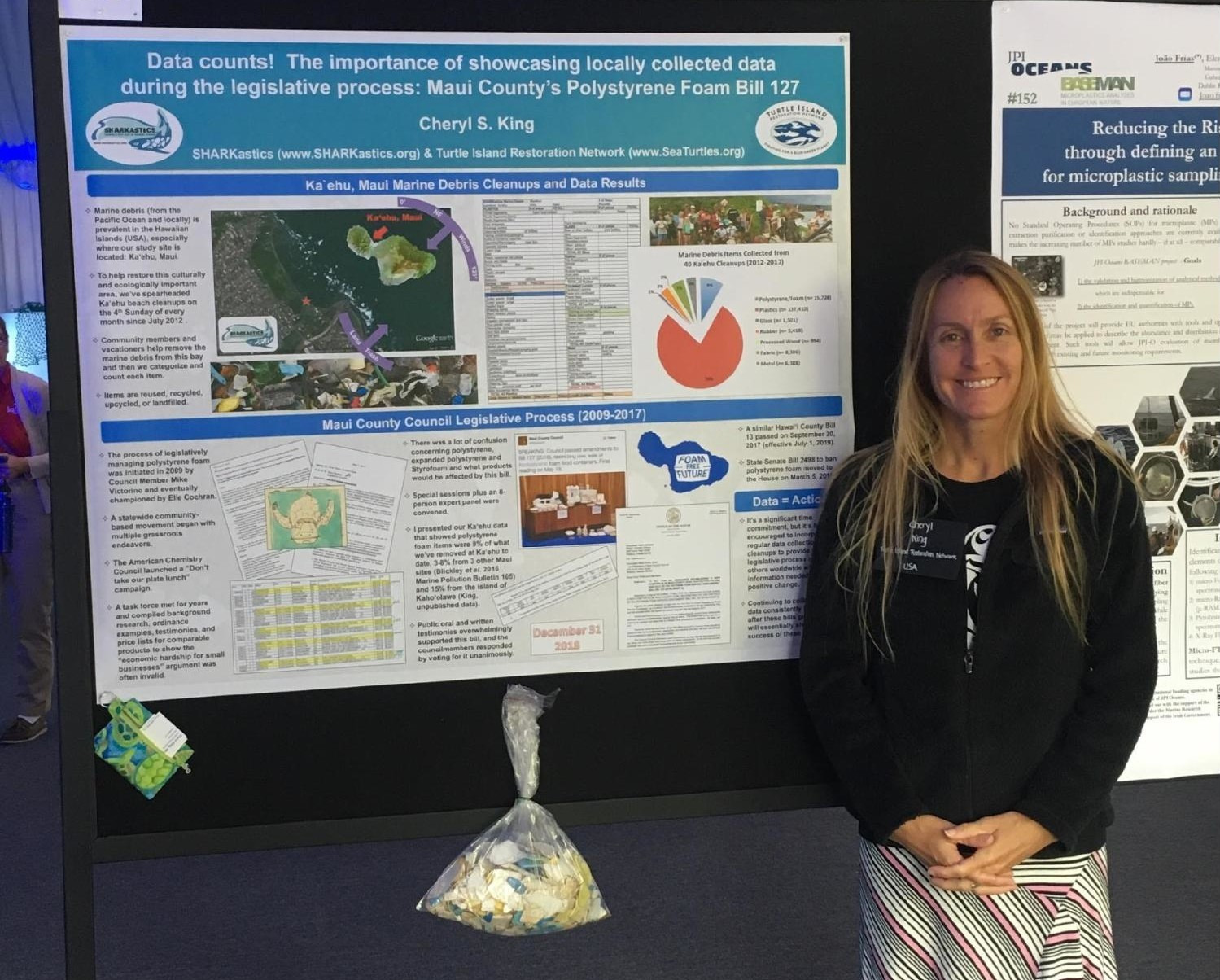 Cheryl King with Poster