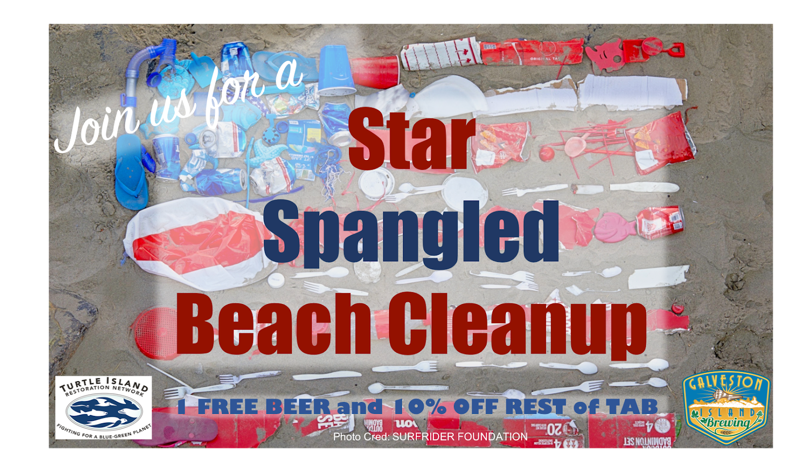 Local Groups to Host July 5 Beach Cleanup in Galveston