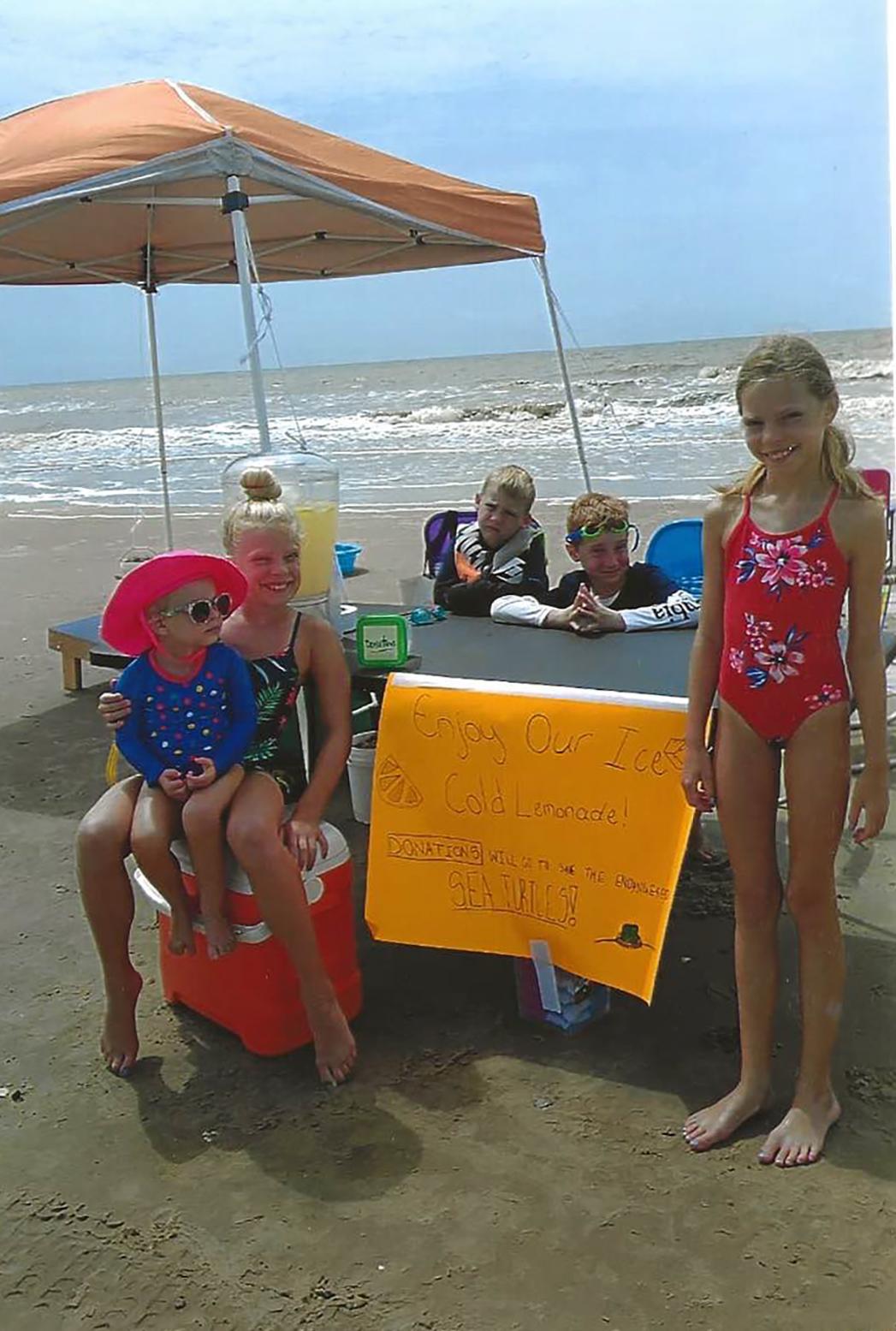 Lemonade Stand Raises Money for Endangered Sea Turtles