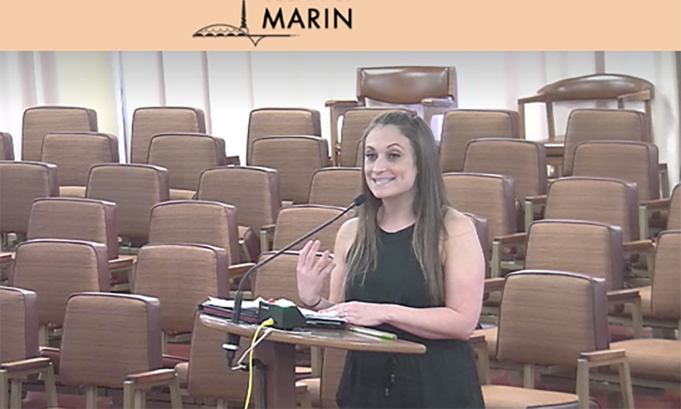 TIRN Advocates for Marin County Coho at Board of Supervisors Meeting