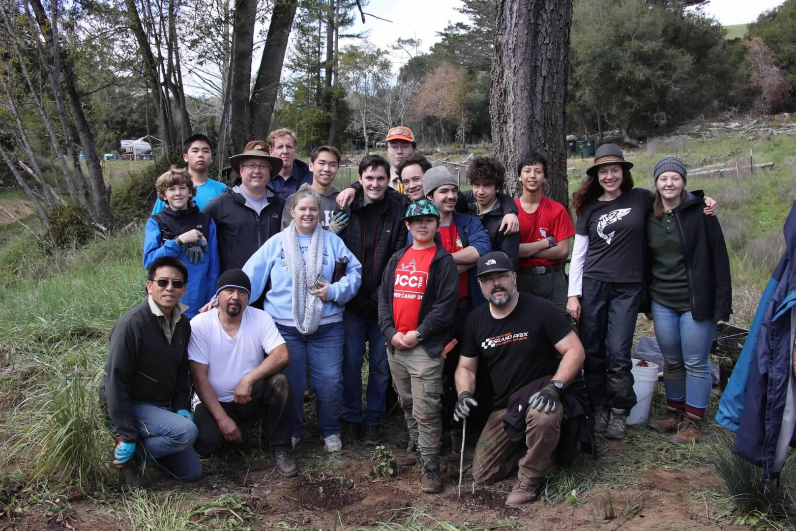 Eagle Scout Project Transforms Upstream Section of Tocaloma Floodplain Project